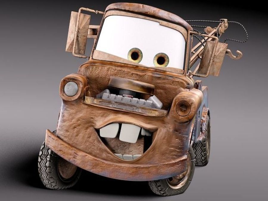Tow Mater CARS royalty-free 3d model - Preview no. 14