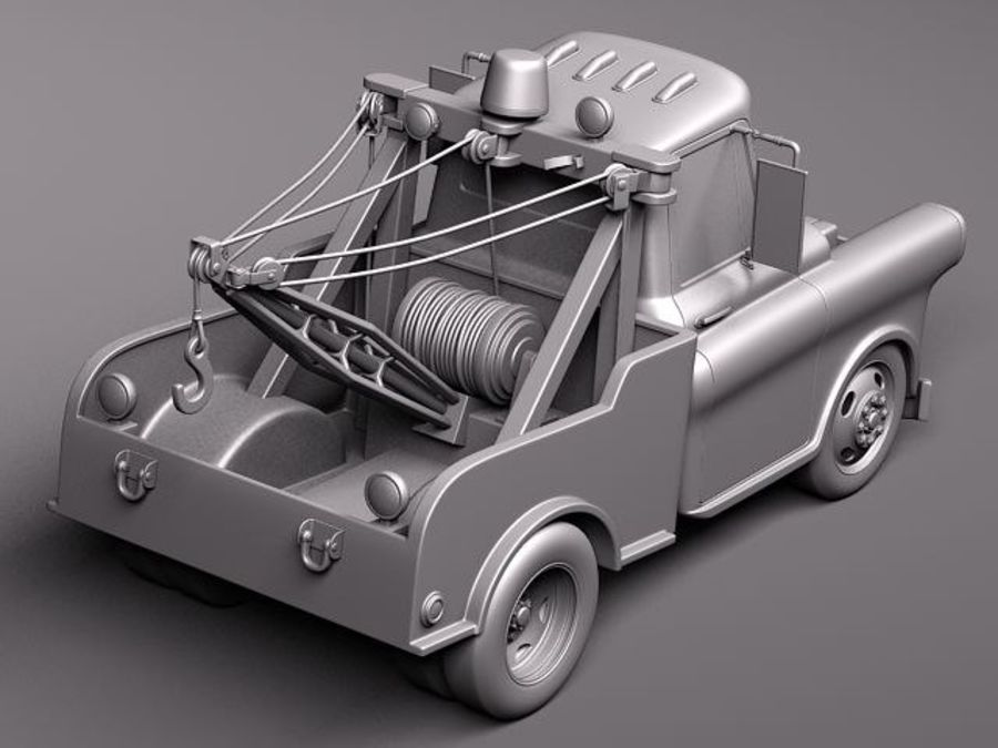 Tow Mater CARS royalty-free 3d model - Preview no. 10