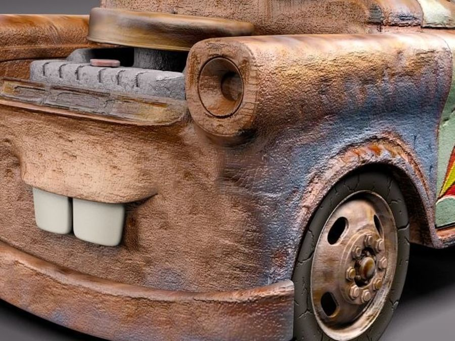 Tow Mater CARS royalty-free 3d model - Preview no. 4