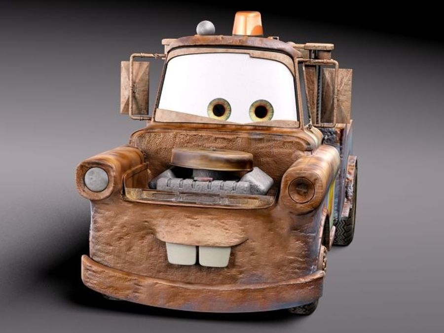 Tow Mater CARS royalty-free 3d model - Preview no. 3