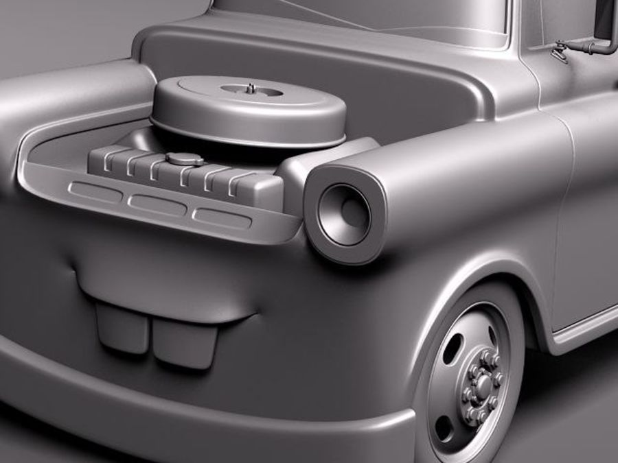 Tow Mater CARS royalty-free 3d model - Preview no. 12
