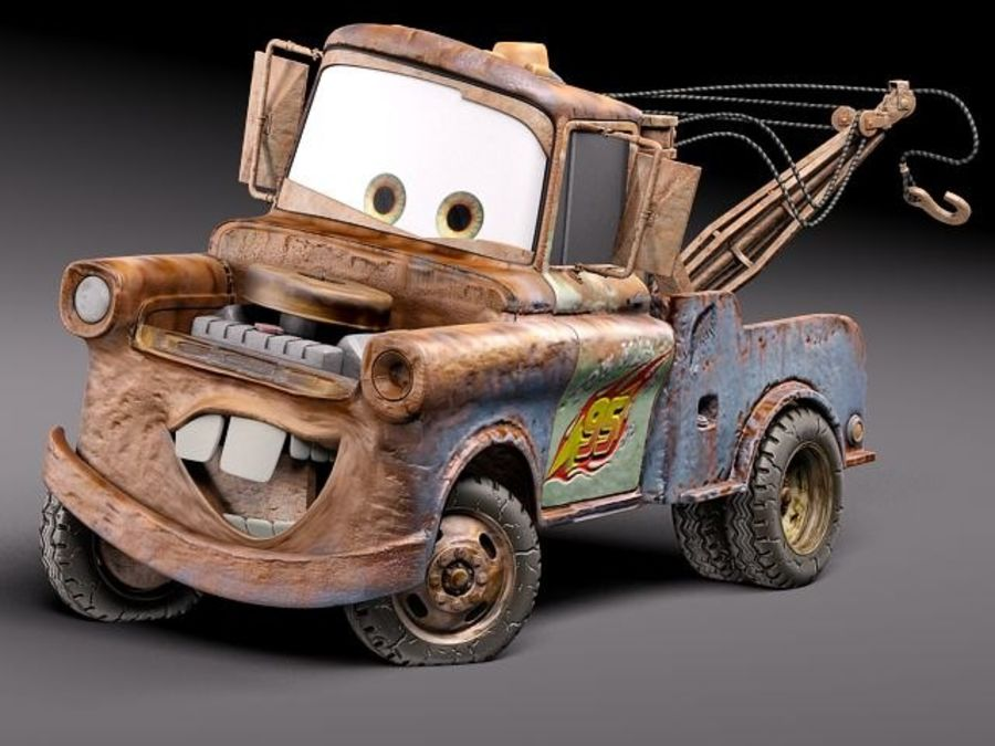 Tow Mater CARS royalty-free 3d model - Preview no. 1