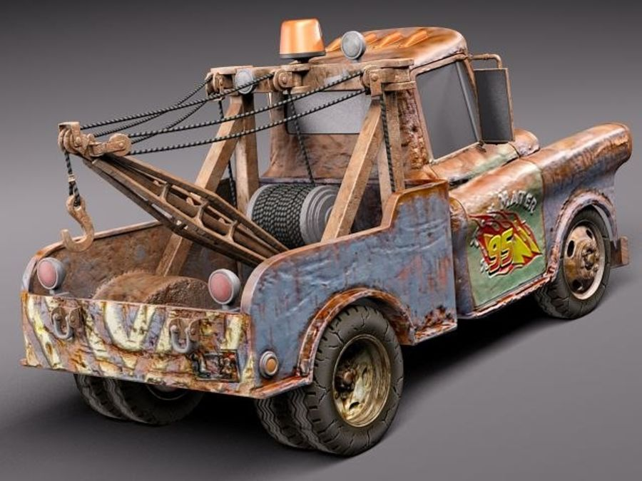 Tow Mater CARS royalty-free 3d model - Preview no. 6