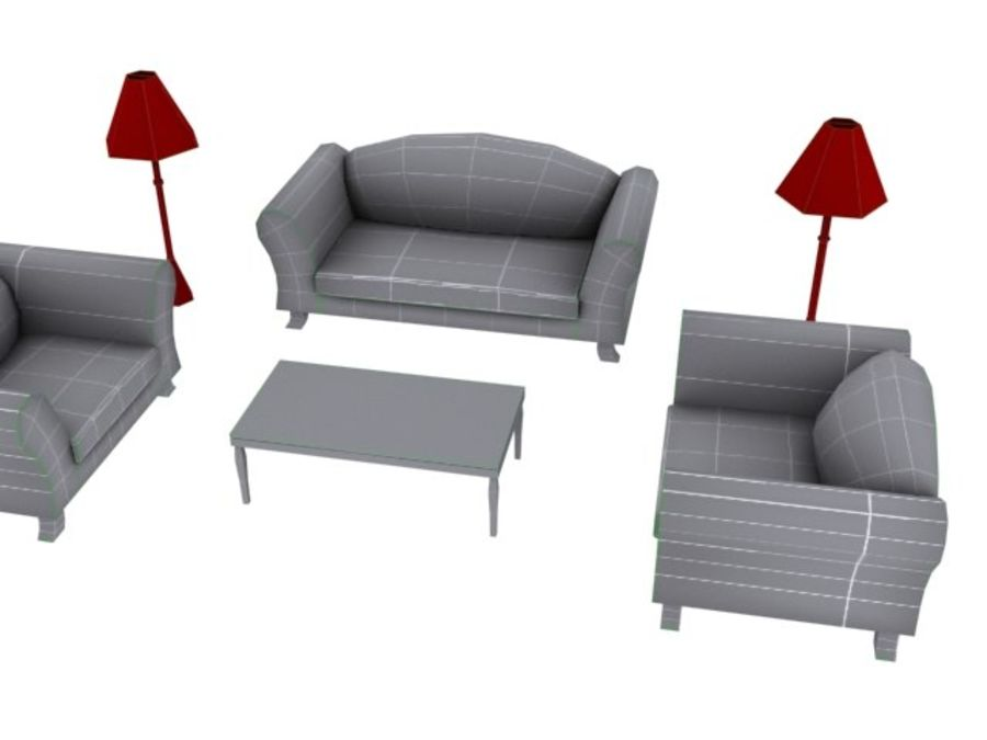 Woonkamer Set royalty-free 3d model - Preview no. 3