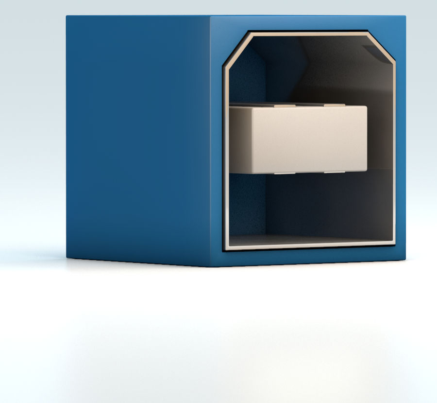 porta USB royalty-free 3d model - Preview no. 2