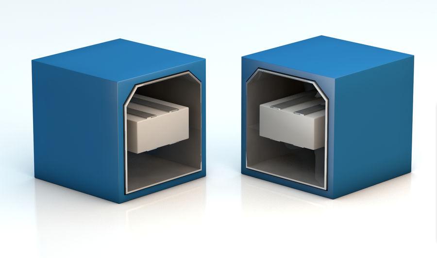 porta USB royalty-free 3d model - Preview no. 4