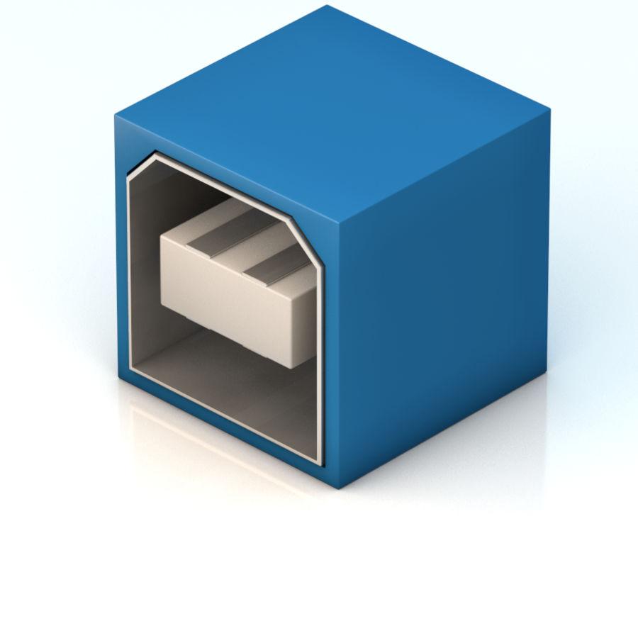 porta USB royalty-free 3d model - Preview no. 1
