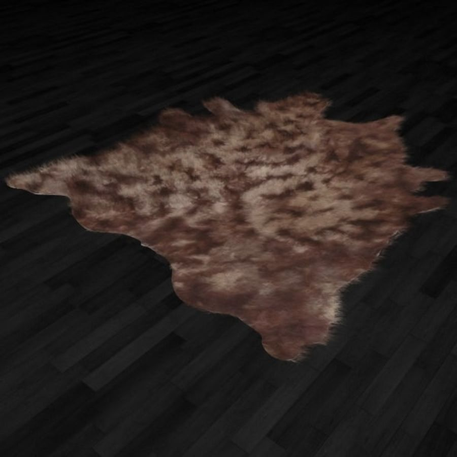 Animal Skin Rug N9 royalty-free 3d model - Preview no. 2