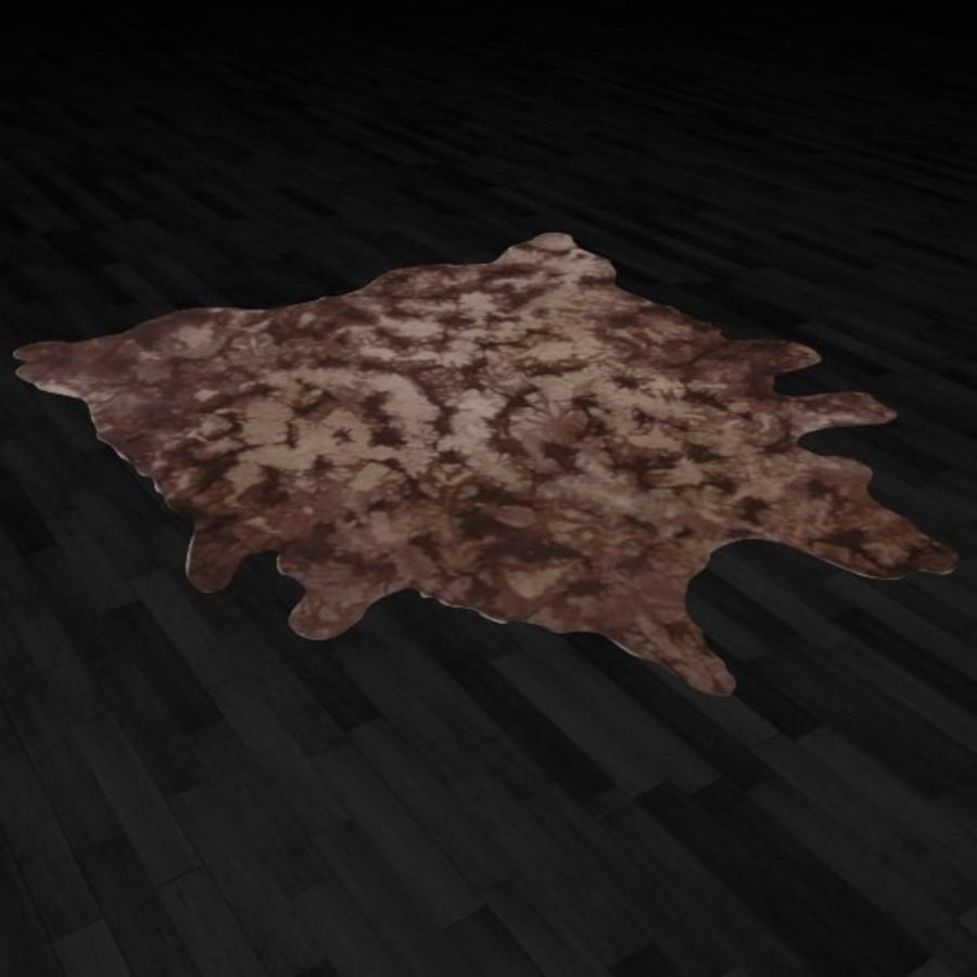 Animal Skin Rug N9 royalty-free 3d model - Preview no. 3