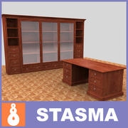 Book-case & Table 3d model