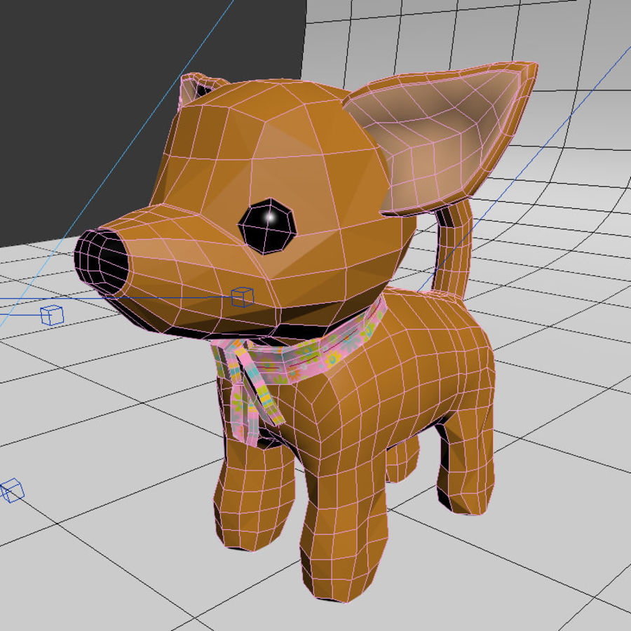 dog soft toy realistic royalty-free 3d model - Preview no. 9