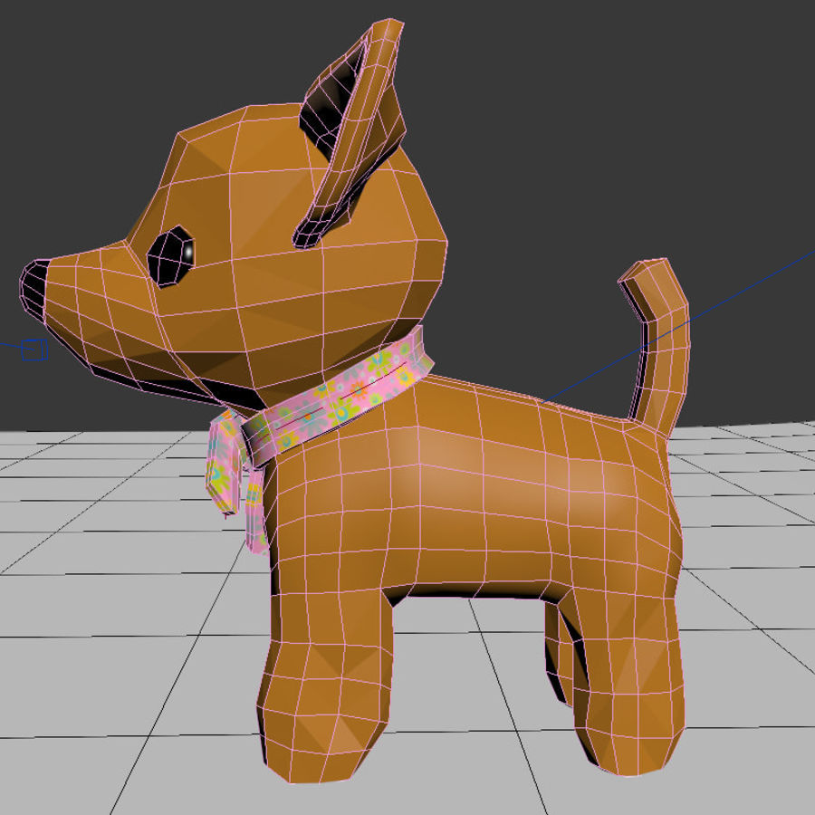 dog soft toy realistic royalty-free 3d model - Preview no. 10