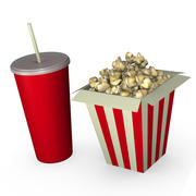 Popcorn and Drink 3d model