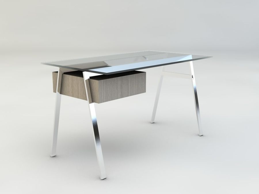Biuro pracy domowej Herman Miller royalty-free 3d model - Preview no. 1