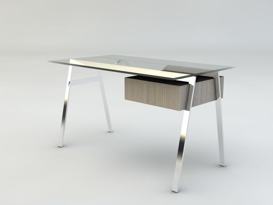 Biuro pracy domowej Herman Miller royalty-free 3d model - Preview no. 7