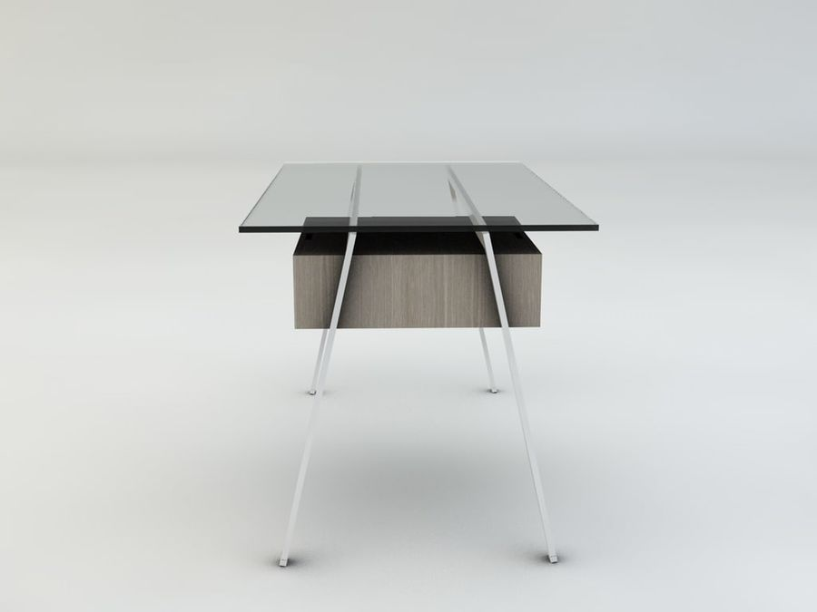 Biuro pracy domowej Herman Miller royalty-free 3d model - Preview no. 8