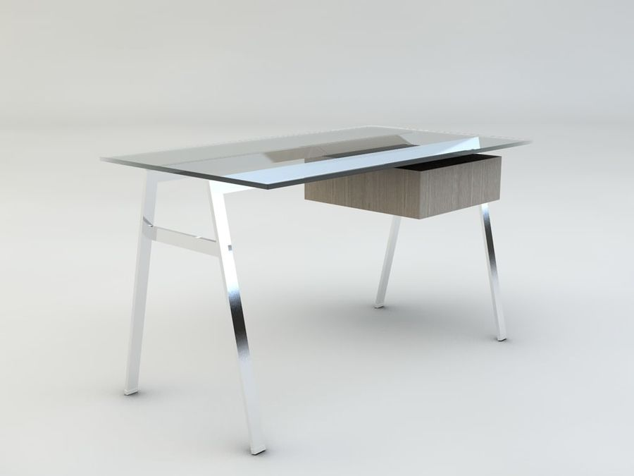 Biuro pracy domowej Herman Miller royalty-free 3d model - Preview no. 5
