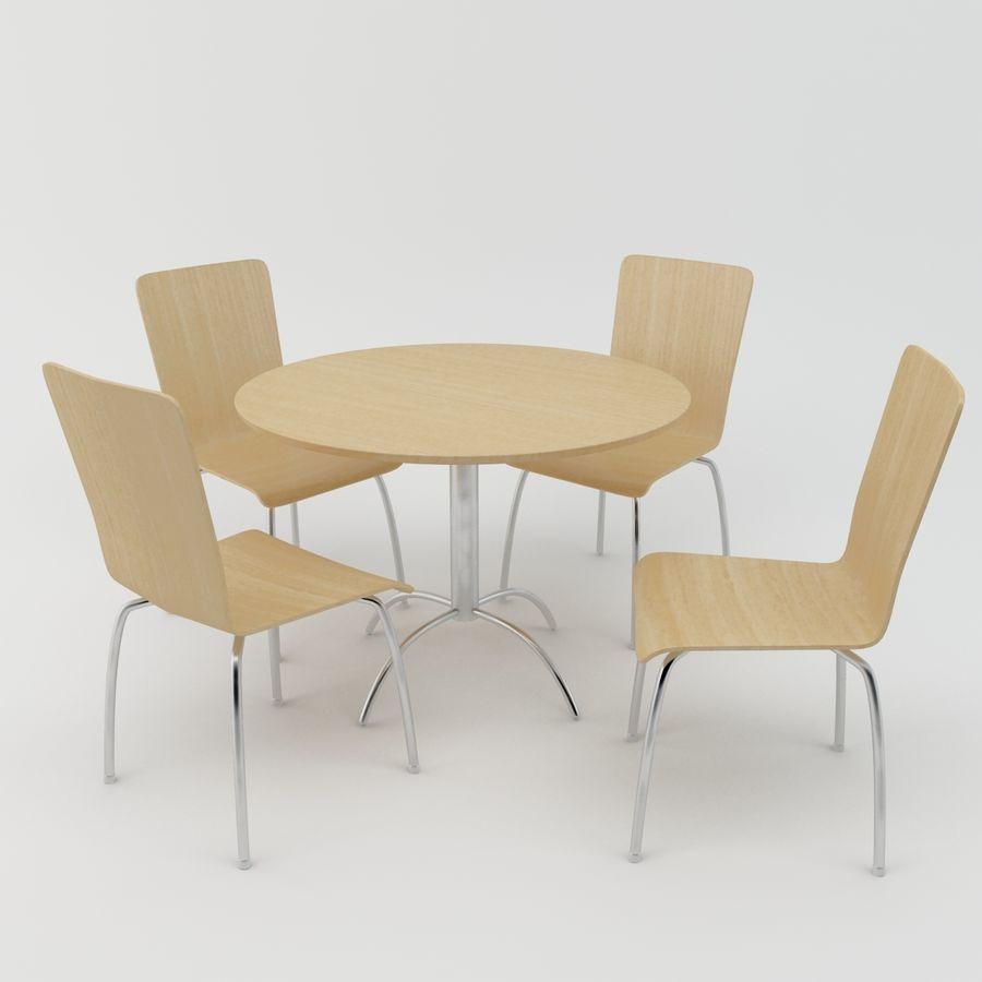 Stół i krzesła royalty-free 3d model - Preview no. 1