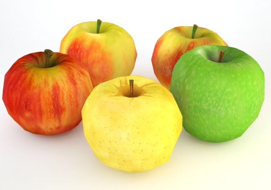 Pack Pommes Basse Poly royalty-free 3d model - Preview no. 9