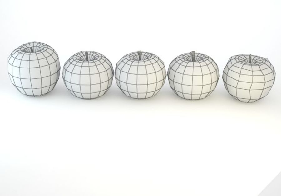 Pack Pommes Basse Poly royalty-free 3d model - Preview no. 15