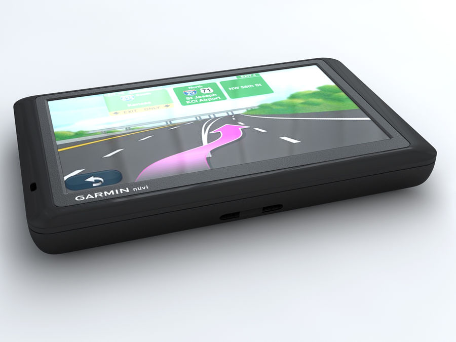 JPS GARMIN NUVI 1490 royalty-free 3d model - Preview no. 2
