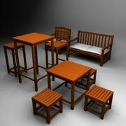 Индийская мебель 3d model
