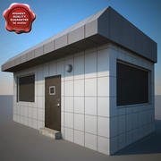 Edificio de la guardia modelo 3d
