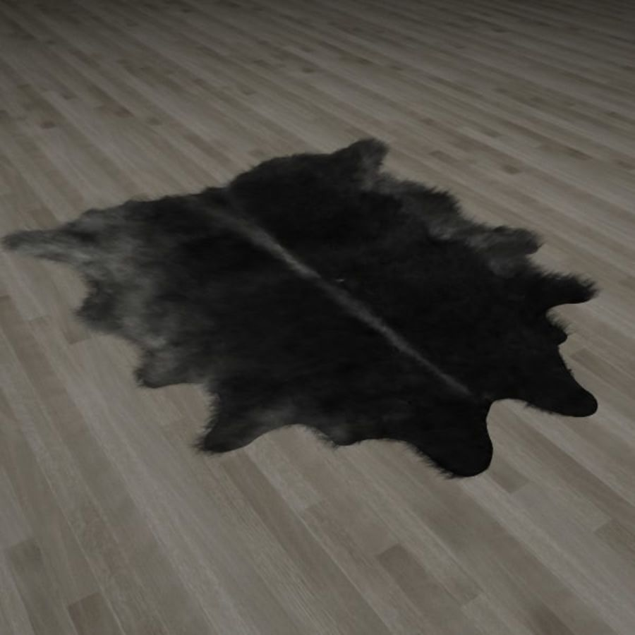 Tapete de pele de pele de búfalo royalty-free 3d model - Preview no. 1