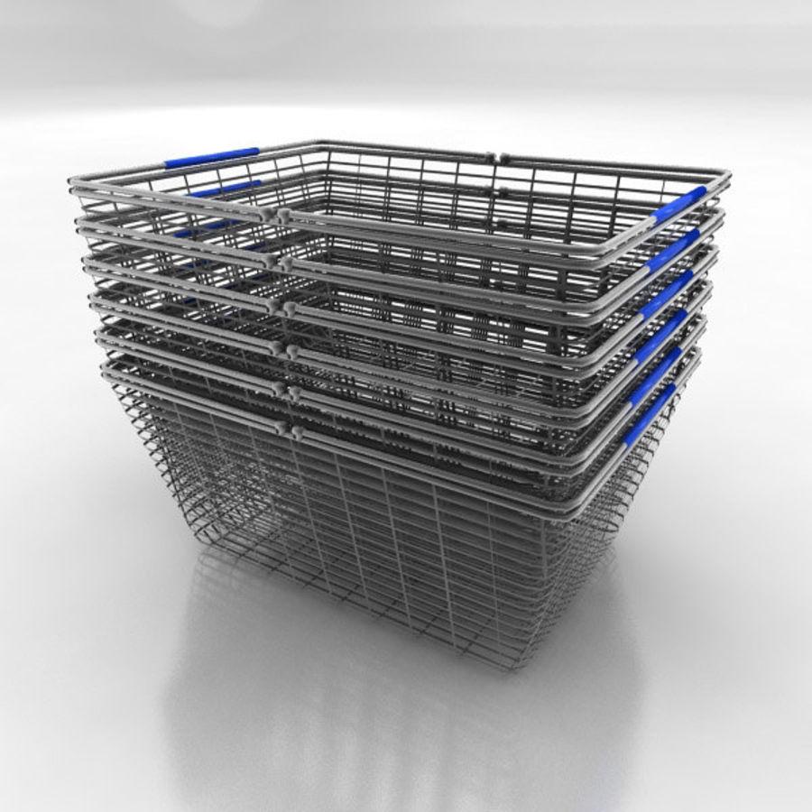 Koszyk na zakupy royalty-free 3d model - Preview no. 2