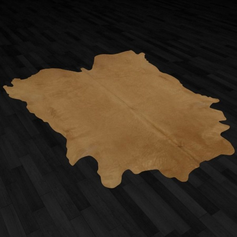 Animal Skin Rug N7 royalty-free 3d model - Preview no. 3