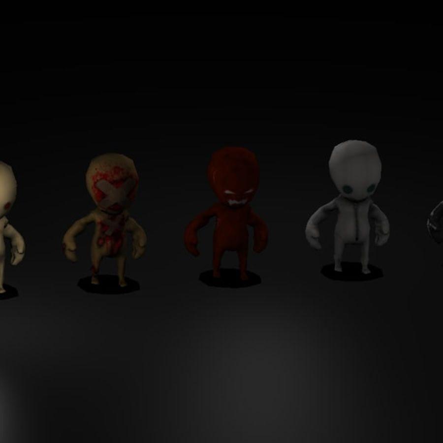 Postacie z horroru royalty-free 3d model - Preview no. 1