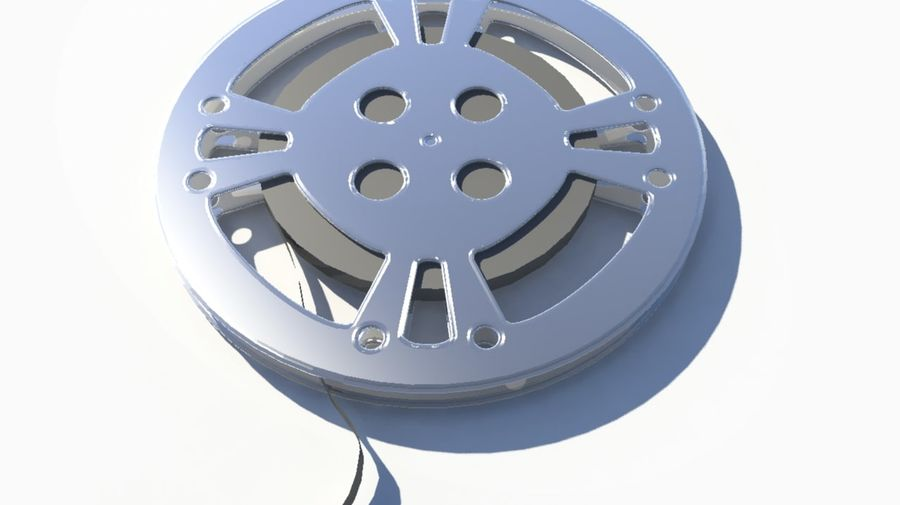 Movie Film Reel royalty-free 3d model - Preview no. 1