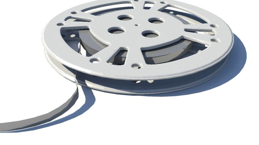 Movie Film Reel royalty-free 3d model - Preview no. 5