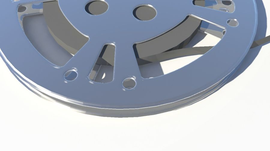 Movie Film Reel royalty-free 3d model - Preview no. 6