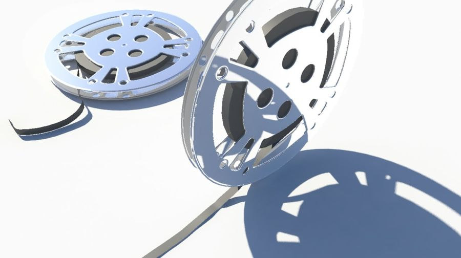 Movie Film Reel royalty-free 3d model - Preview no. 2