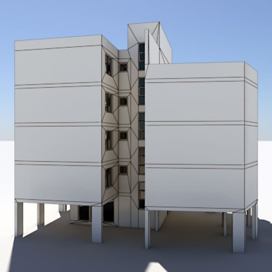 Apartment Building 03 royalty-free 3d model - Preview no. 6