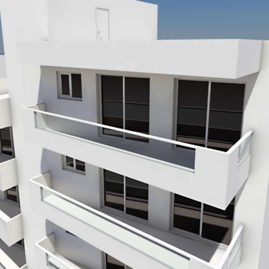 Apartment Building 03 royalty-free 3d model - Preview no. 3