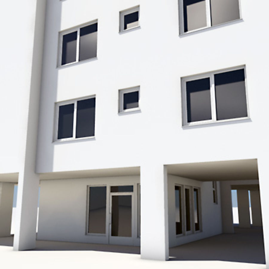 Apartment Building 03 royalty-free 3d model - Preview no. 4