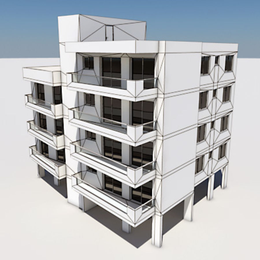 Apartment Building 03 royalty-free 3d model - Preview no. 5