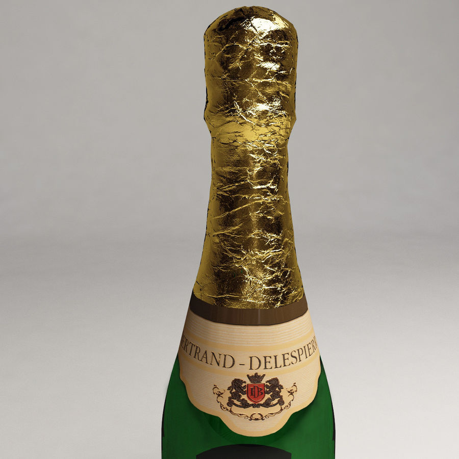 Champagne Bottle royalty-free 3d model - Preview no. 8