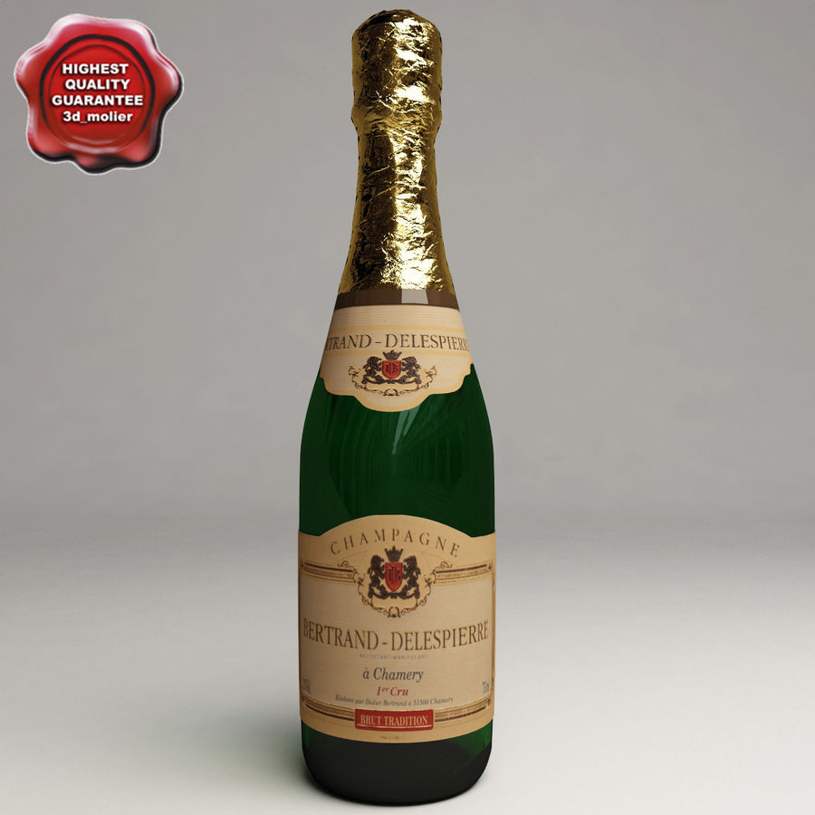 Champagne Bottle royalty-free 3d model - Preview no. 1