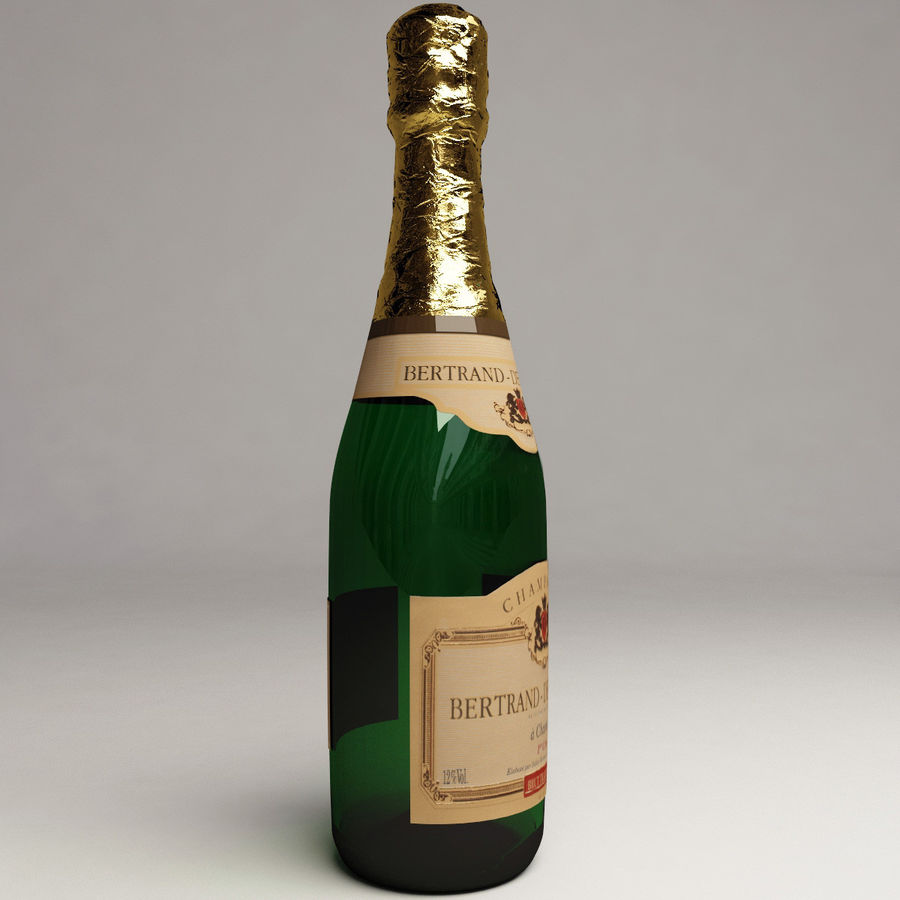 Champagne Bottle royalty-free 3d model - Preview no. 2