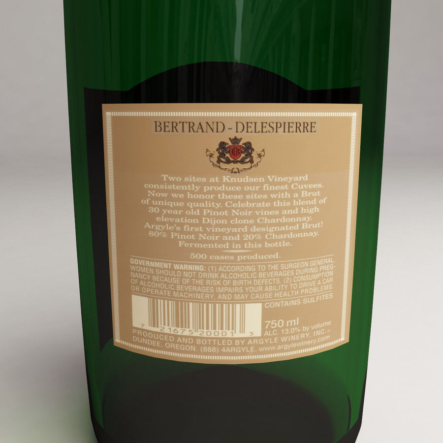 Champagne Bottle royalty-free 3d model - Preview no. 12