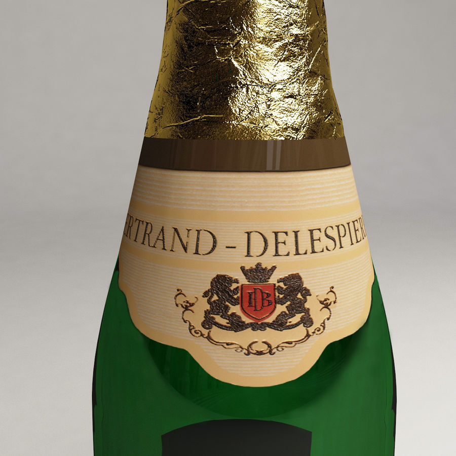 Champagne Bottle royalty-free 3d model - Preview no. 10