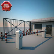 Guard Building and Gate 3d model