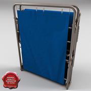 Folding Cot Closed 3d model