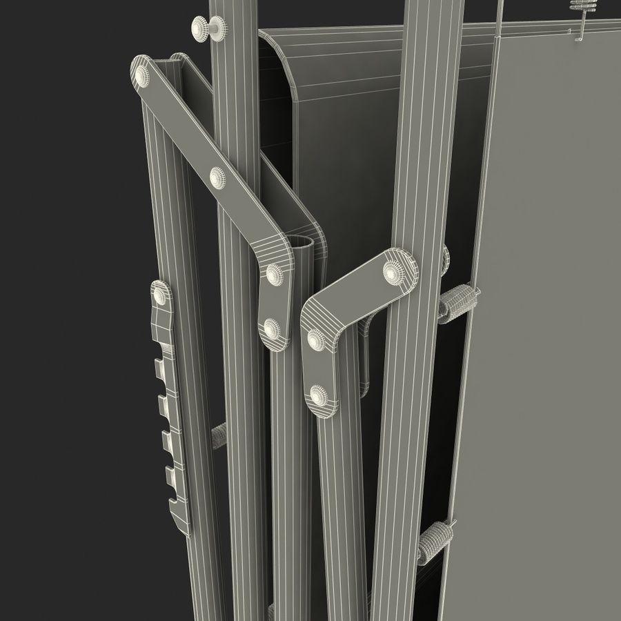 Lit pliant fermé royalty-free 3d model - Preview no. 10