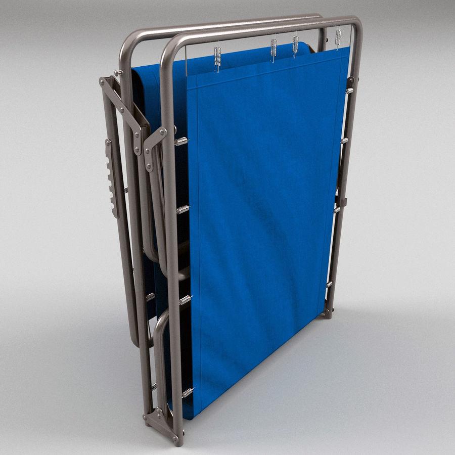 Lit pliant fermé royalty-free 3d model - Preview no. 4