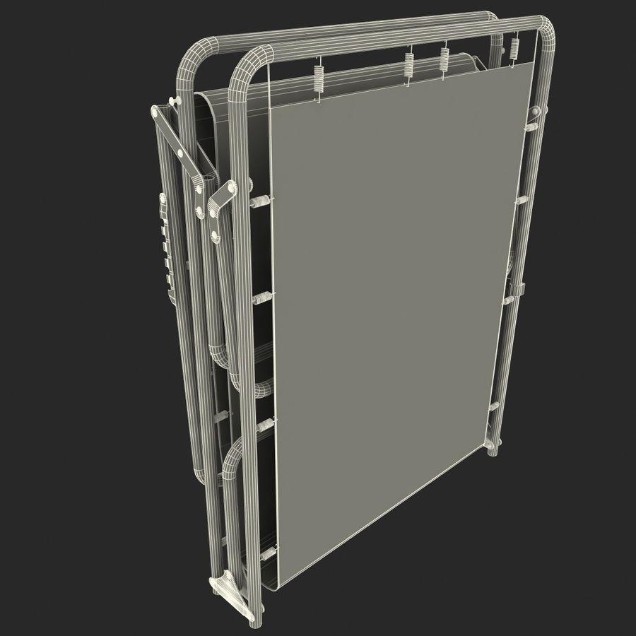 Lit pliant fermé royalty-free 3d model - Preview no. 9