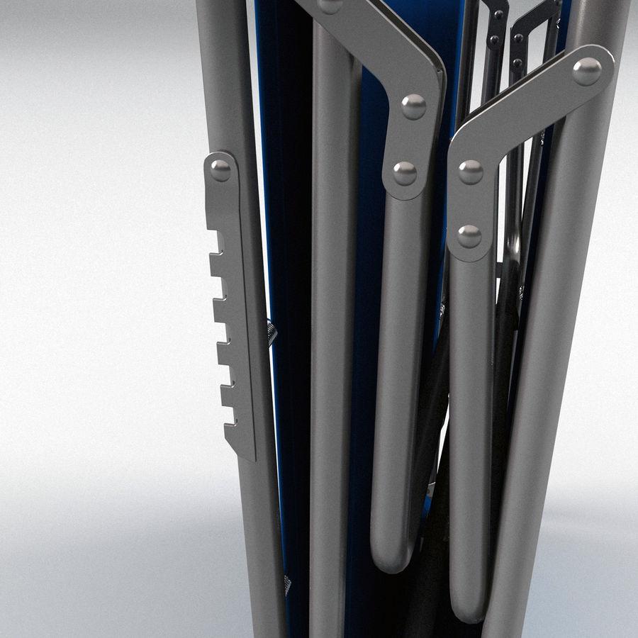 Lit pliant fermé royalty-free 3d model - Preview no. 6